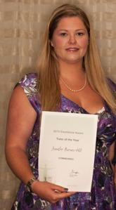 Jennifer with FHT award